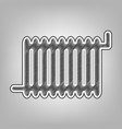 radiator sign pencil sketch imitation vector image vector image