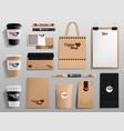 realistic coffee shop mockups cafe restaurant vector image vector image