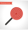 red lollipop christmas sweet candy vector image