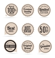Sale and Product Quality Label Set in Retro vector image