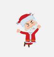 santa claus jumps angry vector image vector image
