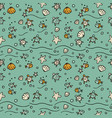 sea seamless pattern with handdrawn vector image vector image