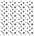 seamless memphis pattern with black geometric vector image