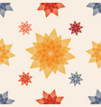 seamless pattern with floral ornate vector image vector image