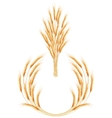 Set of 2 detailed Wheat ears EPS 10 vector image vector image