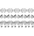 set of black and white decorative bows ribbons vector image vector image