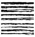Set of Black brush strokes vector image