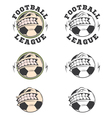 Set of football labels and badges vector image vector image