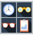 Set of four icons with the clock vector image