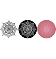 Set of Mandala for coloring book Black white vector image