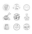 Sketch Handmade Label vector image vector image