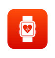 smartwatch icon digital red vector image vector image