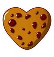 tasty cookie icon cartoon style vector image vector image