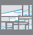 templates web banners in standard sizes with vector image