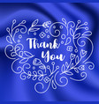 thank you card on silk background vector image