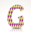 The letter G of the alphabet made of Grape vector image vector image