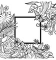 tropical square frame vector image vector image