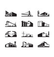 various types of industrial construction vector image