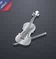 Violin icon symbol 3D style Trendy modern design vector image