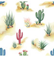 watercolor seamless pattern landscape vector image vector image