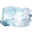 Winter calligraphy Hand lettering Abstract vector image