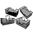 wire basket vector image vector image