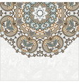ornamental abstract circle floral background vector image