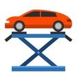 Car repair service diagnostics flat vector image