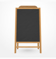 wooden blackboard cafe menu vector image