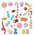 cartoon sweet bonbon sweetmeats candy kids food vector image