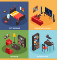 living room concept icons set vector image