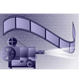 old projector vector image
