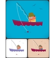 Fishing vector image