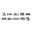 2022 happy new year logo different typography vector image vector image