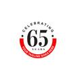 65th year celebration anniversary emblem logo