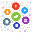 7 bread icons vector image vector image