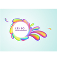 abstract rainbow swirl background vector image vector image