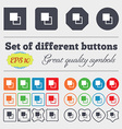Active color toolbar icon sign Big set of colorful vector image vector image