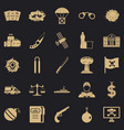 antiterrorism icons set simple style vector image vector image