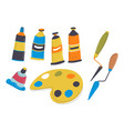 art supplies for drawing paints and palete