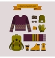 Autumn hipster look vector image vector image