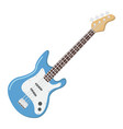 bass guitar flat icon music and instrument vector image
