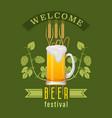 beer festival emblem vector image
