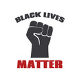 black lives matter protest banner against racial vector image vector image