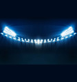 bright stadium lights design illumination vector image vector image