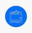 cash finance money personal purse white line icon vector image vector image