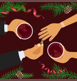 christmas celebration and betrothal vector image vector image