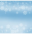 christmas winter blue background vector image