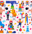 circus people acrobat or clown and trained vector image vector image