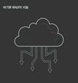 cloud computing icon line element vector image vector image